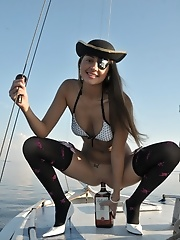 Cutie on the yacht